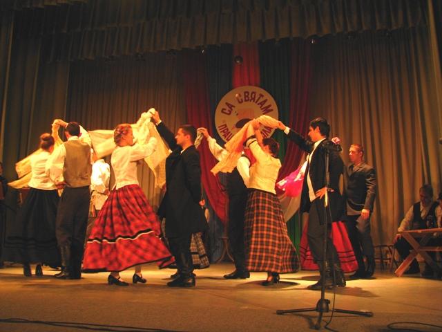 Podespan w widowisku prezentowanym z okazji Narodowego Święta Niepodległości w Iwiu (Białoruś), 17.11.2012.
