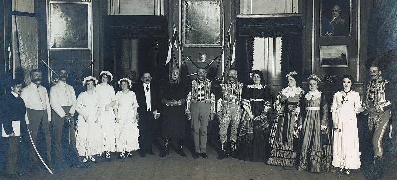 Przedstawienie Damy i huzary, 5 czerwca 1914 roku (zbiory Muzeum Okręgowego w Suwałkach)