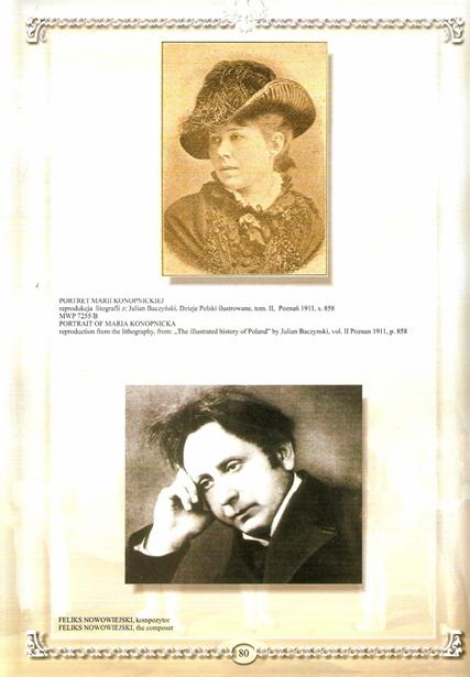 Maria Konopnicka i Feliks Nowowiejski